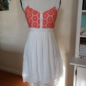 Altar'd State Orange and White Dress Size M